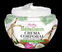 BELLE DERM - Crema con Aceite de Coco para Cuerpo 450grs.