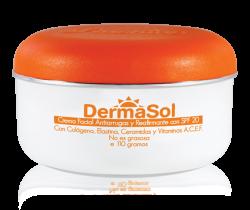DERMASOL- Crema Facial Antiarrugas y Reafirmante SPF20 110gr.