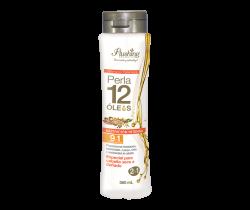 PERLA 12 ÓLEOS-Shampoo Tratamiento 2 en 1 Nutrición Intensa 365 mL Flushing